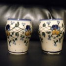 AUTHENTIC POLISH POTTERY SM DRINK CUPS .MUST LOOK@@@BEAUTIFUL PIECE