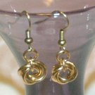 Solid Brass Mobius Chainmaille Earrings