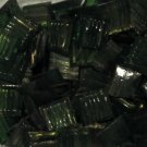 "3/4"" Metallic Dark Green Translucent Glass Mosaic Tile ~130 Tiles (1 lb)"