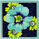 NEW Lined Teal and Green Flowers Journal or Diary