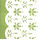 New Lined Green Doily Journal or Diary