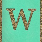 "NEW Lined Teal Leopard ""W"" Journal or Diary"