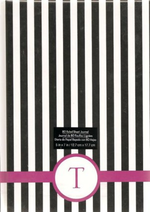 "NEW Lined Pink Striped ""T"" Journal or Diary - Special Price!"
