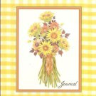 NEW Lined Yellow Checkered Summer Bouquet Journal or Diary