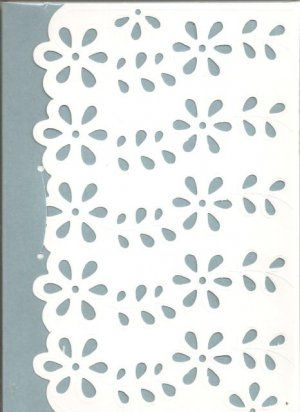 New Lined Blue Doily Journal or Diary
