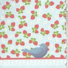 New Lined Blue Bird With Strawberries Journal or Diary