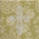 NEW Lined Green With Silver Cross Purse Journal or Diary