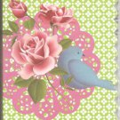 New Lined Blue Bird with Rose Journal or Diary