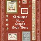 Christmas Motto Graphs Book Three Cross Stitch Pattern