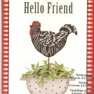 New Hello Friend Greeting Cards or Notecards - 8 Pack