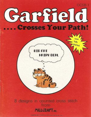 Garfield...Crosses Your Path! Cross Stitch Pattern