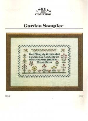 Garden Sampler Cross Stitch Pattern
