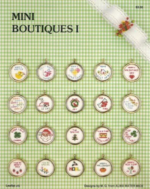 Mini Boutiques I Cross Stitch Pattern