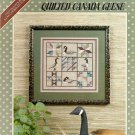 Quilted Canada Geese Cross Stitch Pattern