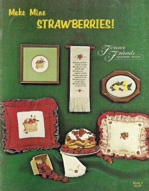 Make Mine Strawberries Cross Stitch Pattern