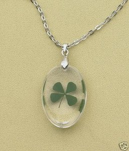 GENUINE FOUR-LEAF CLOVER NECKLACE
