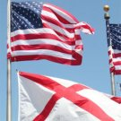 20 FT.VALLEY FORGE FLAGPOLE W/ (1) 3'x5' U.S. FLAG & (1) 2'x3' ALABAMA STATE FLAG
