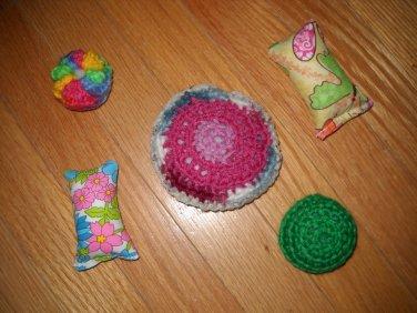 Handmade Organic Catnip Assortment Of Cat Toys