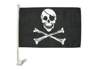 "12""x15"" Car Pirate Window Flag"