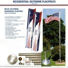 25 ft. Aluminum White Outdoor Flagpole Kit Plus ONE 3'X5' U.S. Flag & (1) 4'x6' U.S. FLAG