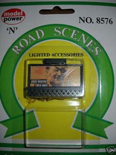 """""""N"""" SCALE ROADSIDE LITED TRAIN BILLBOARD - JOHN WAYNE"""