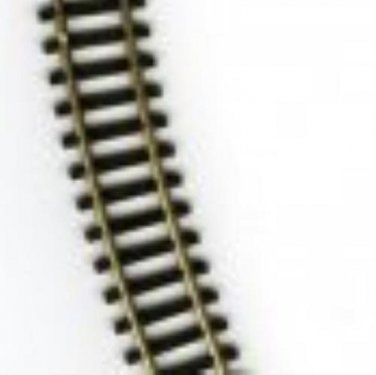 """""""N"""" SCALE 9 3/4"""" CURVED NICKEL SILVER TRACK (10) PCS"""