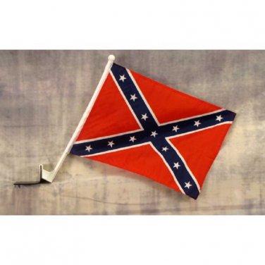 Rebel Confederate Car Window Flag