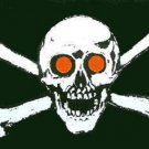 Jolly Roger Red Eyes Flag 3 x 5