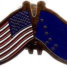 U.S. & State Flag Lapel Pin - Alaska