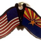 U.S. & STATE FLAG LAPEL PIN- Arizona