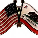 U.S. & STATE FLAG LAPEL PIN- California