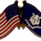 U.S. & STATE FLAG LAPEL PIN- Connecticuit