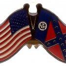 U.S. & STATE FLAG LAPEL PIN- Old Georgia