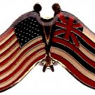 U.S. & STATE FLAG LAPEL PIN- Hawaii