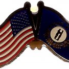 U.S. & STATE FLAG LAPEL PIN- Kentucky