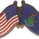 U.S. & STATE FLAG LAPEL PIN- Maine