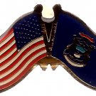 U.S. & STATE FLAG LAPEL PIN- Michigan