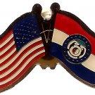 U.S. & STATE FLAG LAPEL PIN- Missouri