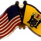 U.S. & STATE FLAG LAPEL PIN- New Jersey