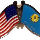 U.S. & STATE FLAG LAPEL PIN- Oklahoma