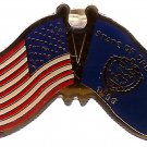 U.S. & STATE FLAG LAPEL PIN- Oregon