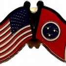 U.S. & STATE FLAG LAPEL PIN- Tennessee
