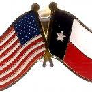U.S. & STATE FLAG LAPEL PIN- Texas