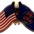 U.S. & STATE FLAG LAPEL PIN- Utah