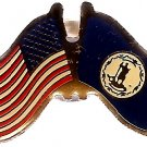 U.S. & STATE FLAG LAPEL PIN- Virginia