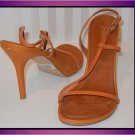 FREDERICKS OF HOLLYWOOD WOMEN'S TAN STRAPPY HEELS/SANDALS WAY CUTE!! SIZE 9.5