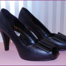 SIMPLY VERA Vera Wang Black Open toe Heels Pumps Size 8 M