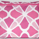 Este Lauder Pink & White Floral Pattern Cosmetics Bag