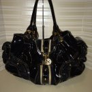 Juicy Couture Baby Fluffy Bag Black Patent X-Large MOD Tote Handbag $140.00