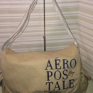 Aeropostale Messenger bag Khaki 100% cotton canvas unisex